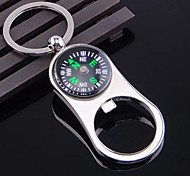 Zinc Alloy Compass Multifunction Home Opener Keychain Bottle Opener