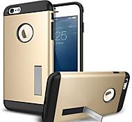 prémio luz caso de policarbonato de peso para iphone 6 mais (cores sortidas)