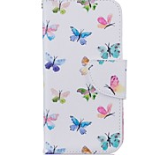 EFORCASE Butterflies Painting PU Phone Case for iphone7 7plus