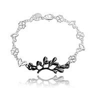 2016 Leaf 925 Sterling Silver Black Luxury Specially Bracelets For Women