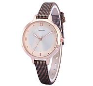 Women's Simple Fashion Tower Dial PU Leather Strap Quartz Wrist Watch