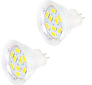 4W GU4(MR11) Luci LED Bi-pin MR11 9 SMD 5730 400 lm Bianco caldo / Luce fredda Decorativo DC 12 V 2 pezzi