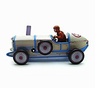 The Car Wind-up Toy Leisure Hobby Metal Blue For Kids