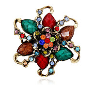 Women's Crystal Rhinestone Gold Plated Flower Brooch Pins Jewelry Party Brooches For Scarf