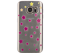 Star Thin Material Transparent TPU Phone Case for Samsung S5/S6/S6 EDGE//S7 EDGE/S7