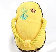 Cat / Dog Pet Toys Plush Toy / Squeaking Toy Squeak / Squeaking / Shoes Yellow Plush