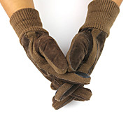 Winter Gloves Unisex Keep Warm Ski & Snowboard Black / Brown Canvas Free Size-Others
