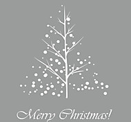 Wall Stickers Wall Decals Style Christmas Tree New Snow PVC Wall Stickers