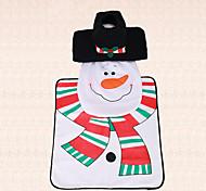 3pcs natal tampa vaso sanitário interior decoração do banheiro set tanque de boneco de neve scarf tapete tampa do vaso
