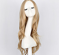 Stylish Curly Hair Pad Blonde Wig 70CM 280g Young Long Synthetic Fashion Hair Wig High-grade life wig