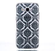 TPU Material Black Palace Flower Pattern Cellphone Case for Samsung Galaxy J710/J510/J5/J310/G530/G360