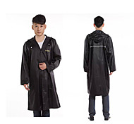 Black Raincoat Rainy Plastic Travel / Lady / Men