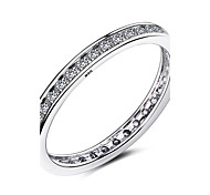 3 Size 925 Sterling Silver Rings Round Cubic Zirconia Wedding Fashion Finger Rings for Women Ring Jewelry