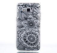 TPU Material Two Flowers Pattern Cellphone Case for Samsung Galaxy J7/J510/J5/J310/G530/G360