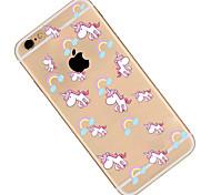 Pour Coque iPhone 6 Coques iPhone 6 Plus Motif Coque Coque Arrière Coque Dessin Animé Flexible PUT pour AppleiPhone 6s Plus/6 Plus iPhone