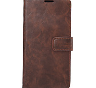 Full Body Card Holder / Wallet / Shockproof Solid Color PU Leather Soft Case Cover For Apple iPhone 7