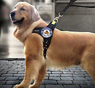 Dog Harness / Leash LED Lights / Adjustable/Retractable / Running / Safety Black Nylon