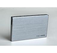 acasis fa - 2013 nos caixa de disco de alumínio cheia de 2,5 polegadas móvel de disco iniciar porta serial cor aleatória sata laptop