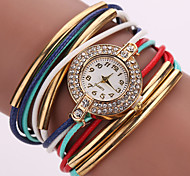 fashion ladies watch leather Multilayer Weave Bracelet Watch crystal Quartz watch kids watches montre femme