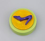 Маленькие круглые туфли на высоком каблуке марки силиконовая резина торт плесень цвет случайный