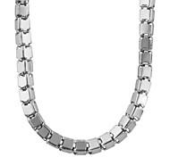 Ожерелье Ожерелья-цепочки Бижутерия Свадьба / Для вечеринок / Повседневные Мода Нержавеющая сталь Белый 1шт Подарок