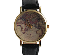 Fashion Round The World Map Ladies Watch