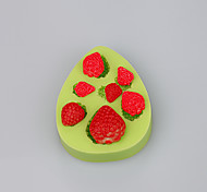 FDA&LFGB Strawberry Silicone Ice cube fimo caly candy chocolate Mold Color Random