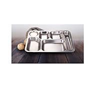 Нержавеющая сталь Обеденные тарелки 35*25*0.5 посуда  -  Высокое качество
