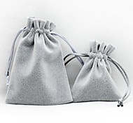 Jewelry Bags Fabric 1pc Gray