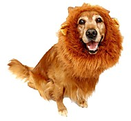 Pet Costume Lion Mane Wig for Dog Cat Halloween Clothes with Ear Clothes for dogs for cats Goods for pets