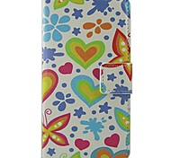 Butterfly Pattern PU Leather Flip Case with Magnetic Snap and Card Slot for Nokia Lumia N630/635/Lumia625