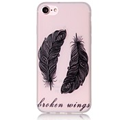 Glow in the Dark Feather Pattern Embossed TPU Material Phone Case for  iPhone 7 7 Plus 6s 6 Plus SE 5s 5