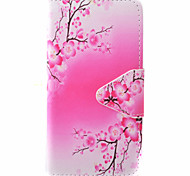 Plum Flower Pattern PU Material New High-End Card Holder Phone Case For Samsung Galaxy J3 (2016) J5 J5 (2016)