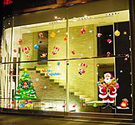 Art Deco Contemporâneo Adesivo de Janela,PVC/Vinil Material Decoração de janela