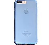Für Hüllen Cover Durchscheinend Rückseitenabdeckung Hülle Einheitliche Farbe Weich TPU für AppleiPhone 7 plus iPhone 7 iPhone 6s Plus