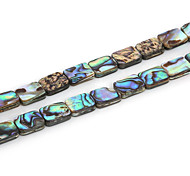 Beadia 8x10mm Rectangle Natural Abalone Sea Shell Beads (38cm/approx 38pcs)