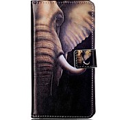 For Sony XP M4 Case Cover Big Aars like Pattern Painting Card Stent PU Leather Phone Case
