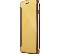 Flip Mirror Plating Material PC Phone Case for  iPhone 7 7 Plus 6s 6 Plus