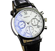 YAZOLE® Men's Quartz Casual Fashion Watch Personality Simple Noctilucence Round Dial Watch Cool Watch Unique Watch