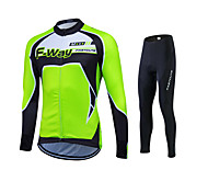 Fashion Spring Autumn Long Sleeve Cycling Jersey Sets Breathable Gel Padded Bicycle Sportswear Cycling Clothings
