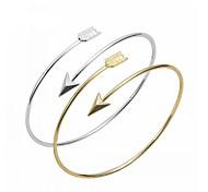 Жен. Браслет цельное кольцо Браслет разомкнутое кольцо Базовый дизайн Любовь Мода бижутерия Сплав анкер Бижутерия Назначение Для