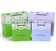 1pc Paper Gift Bags The New Fashion Cross Section Gift Bags White Lace