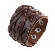 Men's Fashion Jewelry Punk Style Adjustable Genuine Leather Bracelets Casual/Daily Gift Accessories
