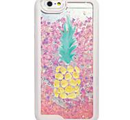 Flowing Quicksan Liquid/Pattern Fruit Pinapple PC Hard Case For Apple iPhone 6s 6 Plus SE/5s/5