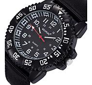 Hombre Reloj Deportivo / Reloj Militar / Reloj de Moda / Reloj de Pulsera Cuarzo / Tejido Banda Cosecha / Casual / CoolNegro / Azul /