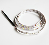 Z®ZDM 100cm 2W 60x3528SMD White Light LED Strip Lamp for Car (DC 12V)