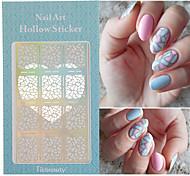 12 Tips/Sheet Irregular Triangle Pattern Nail Vinyls Nail Art Manicure Stencil Stickers JV206