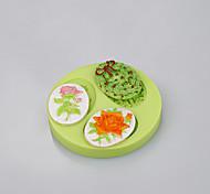 Форма овальной формы силиконовый торт ручной работы мыло плесень инструменты инструменты торт украшение цвет случайный