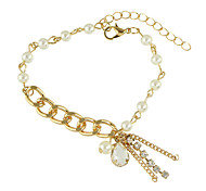 Fashion Adjustable Gold Silver Color Beads Chain Bracelets