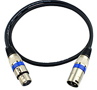 JSJ® 3-Pin XLR Male to Female Balanced Microphone Audio Cable (OD6.0mm 2m/6.5FT)